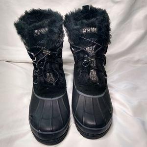 Land End  fur Duck Winter Boots  NWOT 7.5